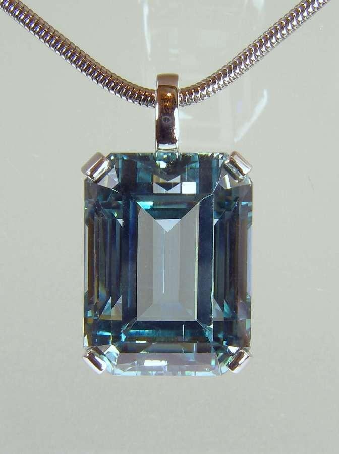 Aquamarine Pendant Private Commission