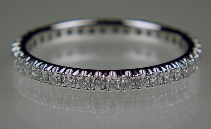 Delicate full set diamond ring in 18ct white gold - Delicate ring with 0.44ct of F colour VS clarity diamonds in 18ct white gold