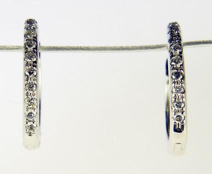 Dainty diamond earhoops - Dainty diamond hoop earrings in 18ct white gold