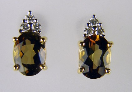 Andalusite & Diamond Earrings -