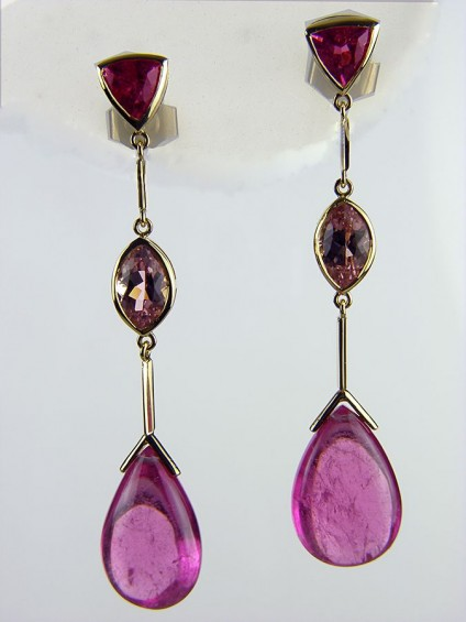Tourmaline Earrings in 18ct Yellow Gold -