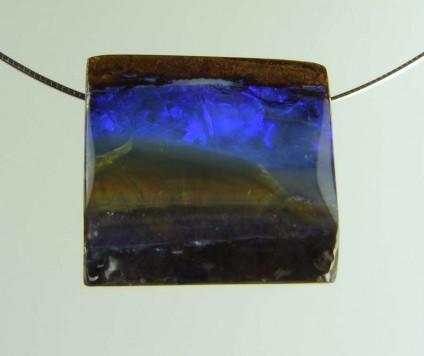 Boulder opal pendant - 55ct boulder opal bead 2.5 x 2.4cm