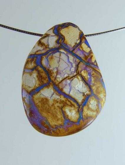 Boulder opal pendant - 70.94ct boulder opal bead 3.2 x 2.8cm