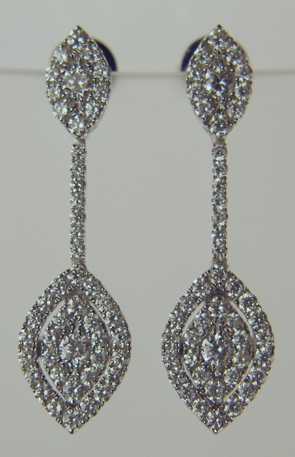 Delicate diamond drop earrings -