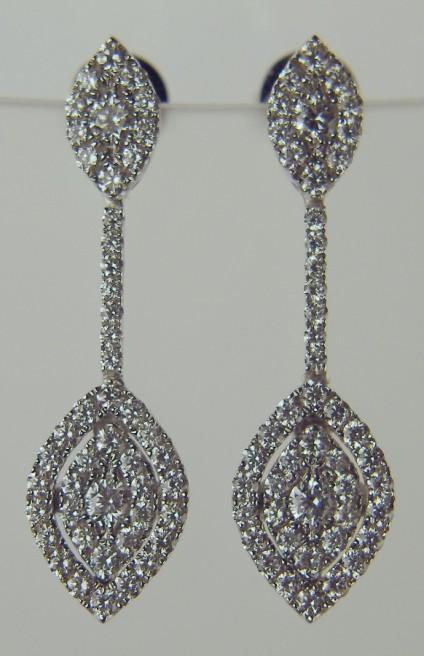 Delicate diamond drop earrings -