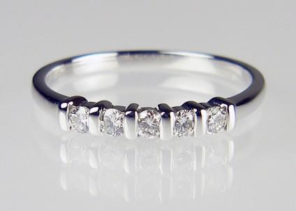 5 Stone Diamond Ring - 5 stone diamond ring in 18ct white gold. 0.25ct diamonds H colour SI clarity. Was £485 now £395
