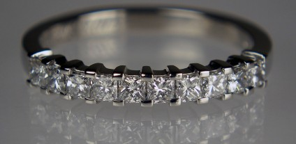 Princess cut  Diamond Ring - 0.5ct F colour VS clarity princess cut diamonds set in platinum